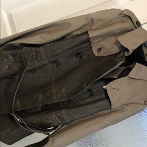 NWT authentic coach leather /rain trench coat